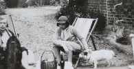 Relaxing outside the Maltings in the 1930's