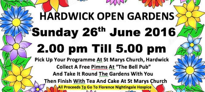 Hardwick Open Gardens 2017